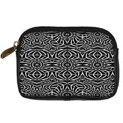 Black and White Tribal Pattern Digital Camera Cases
