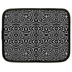 Black and White Tribal Pattern Netbook Case (XL)