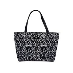 Black and White Tribal Pattern Shoulder Handbags