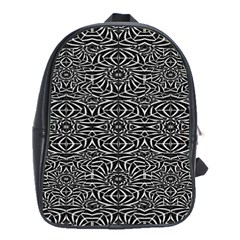 Black and White Tribal Pattern School Bags(Large)