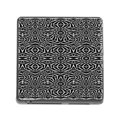 Black and White Tribal Pattern Memory Card Reader (Square)