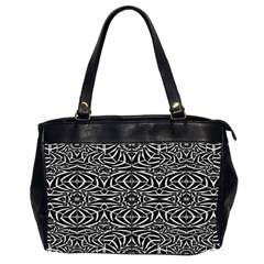 Black and White Tribal Pattern Office Handbags (2 Sides)