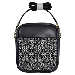 Black and White Tribal Pattern Girls Sling Bags