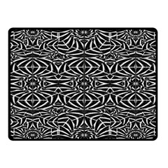 Black and White Tribal Pattern Fleece Blanket (Small)