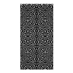 Black and White Tribal Pattern Shower Curtain 36  x 72  (Stall)