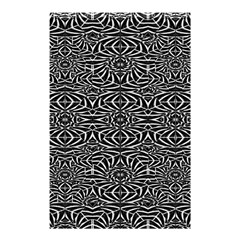 Black and White Tribal Pattern Shower Curtain 48  x 72  (Small)
