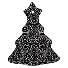 Black and White Tribal Pattern Ornament (Christmas Tree)