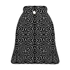 Black and White Tribal Pattern Bell Ornament (2 Sides)