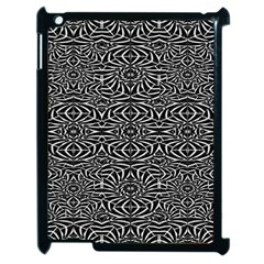 Black and White Tribal Pattern Apple iPad 2 Case (Black)