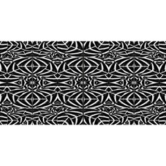 Black and White Tribal Pattern YOU ARE INVITED 3D Greeting Card (8x4)