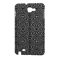 Black and White Tribal Pattern Samsung Galaxy Note 1 Hardshell Case