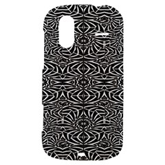 Black and White Tribal Pattern HTC Amaze 4G Hardshell Case