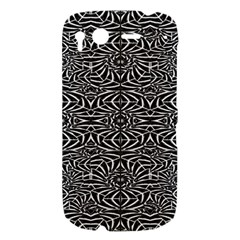 Black and White Tribal Pattern HTC Desire S Hardshell Case