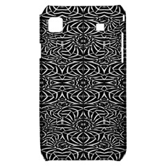 Black and White Tribal Pattern Samsung Galaxy S i9000 Hardshell Case