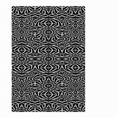 Black and White Tribal Pattern Small Garden Flag (Two Sides)