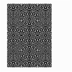 Black and White Tribal Pattern Large Garden Flag (Two Sides)