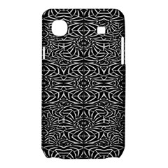 Black and White Tribal Pattern Samsung Galaxy SL i9003 Hardshell Case