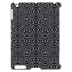 Black and White Tribal Pattern Apple iPad 2 Hardshell Case (Compatible with Smart Cover)