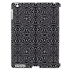 Black and White Tribal Pattern Apple iPad 3/4 Hardshell Case (Compatible with Smart Cover)
