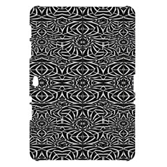 Black and White Tribal Pattern Samsung Galaxy Tab 10.1  P7500 Hardshell Case