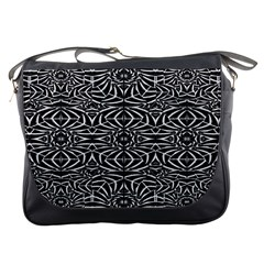 Black and White Tribal Pattern Messenger Bags