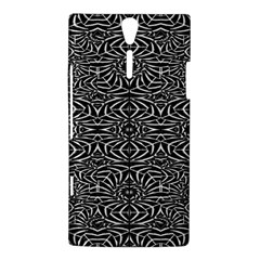 Black and White Tribal Pattern Sony Xperia S