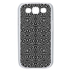 Black and White Tribal Pattern Samsung Galaxy S III Case (White)