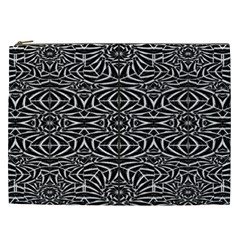 Black and White Tribal Pattern Cosmetic Bag (XXL)