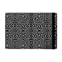 Black and White Tribal Pattern Apple iPad Mini Flip Case