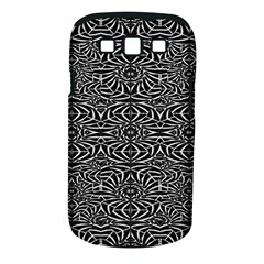 Black and White Tribal Pattern Samsung Galaxy S III Classic Hardshell Case (PC+Silicone)