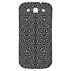 Black and White Tribal Pattern Samsung Galaxy S3 S III Classic Hardshell Back Case