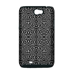 Black and White Tribal Pattern Samsung Galaxy Note 2 Hardshell Case (PC+Silicone)