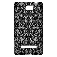 Black and White Tribal Pattern HTC 8S Hardshell Case
