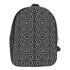 Black and White Tribal Pattern School Bags (XL)