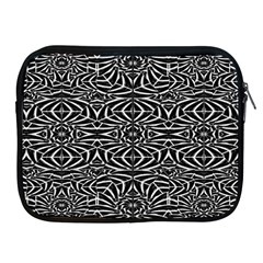 Black and White Tribal Pattern Apple iPad 2/3/4 Zipper Cases