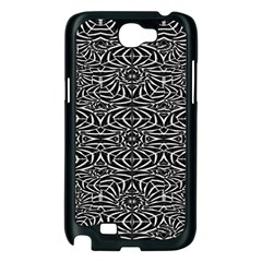 Black and White Tribal Pattern Samsung Galaxy Note 2 Case (Black)