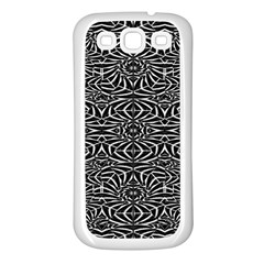Black and White Tribal Pattern Samsung Galaxy S3 Back Case (White)