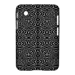 Black and White Tribal Pattern Samsung Galaxy Tab 2 (7 ) P3100 Hardshell Case