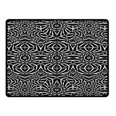 Black and White Tribal Pattern Double Sided Fleece Blanket (Small)