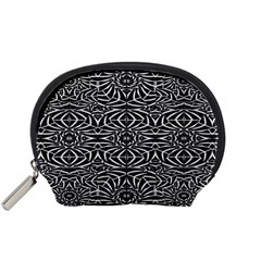 Black and White Tribal Pattern Accessory Pouches (Small)