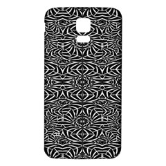 Black and White Tribal Pattern Samsung Galaxy S5 Back Case (White)