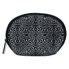 Black and White Tribal Pattern Accessory Pouches (Medium)
