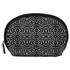 Black and White Tribal Pattern Accessory Pouches (Large)