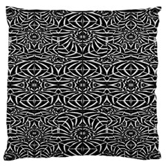 Black and White Tribal Pattern Large Flano Cushion Case (Two Sides)