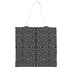 Black and White Tribal Pattern Grocery Light Tote Bag