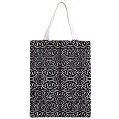 Black and White Tribal Pattern Classic Light Tote Bag