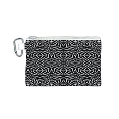 Black and White Tribal Pattern Canvas Cosmetic Bag (S)
