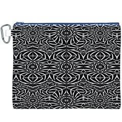 Black and White Tribal Pattern Canvas Cosmetic Bag (XXXL)