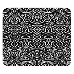 Black and White Tribal Pattern Double Sided Flano Blanket (Small)