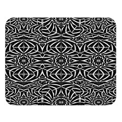 Black and White Tribal Pattern Double Sided Flano Blanket (Large)